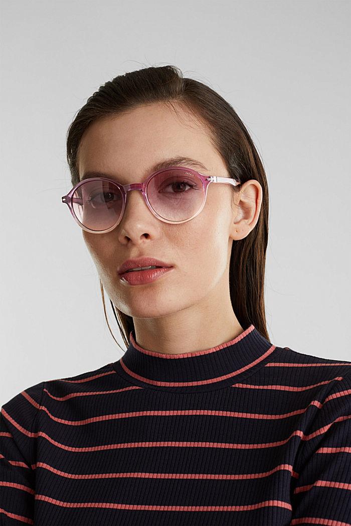 Sonnenbrille mit transparentem Rahmen, PURPLE, detail image number 2