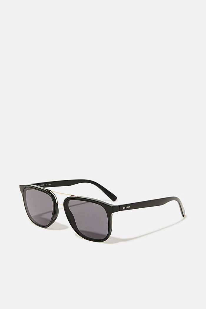 Sunglasses with a metal bridge, BLACK, detail image number 0