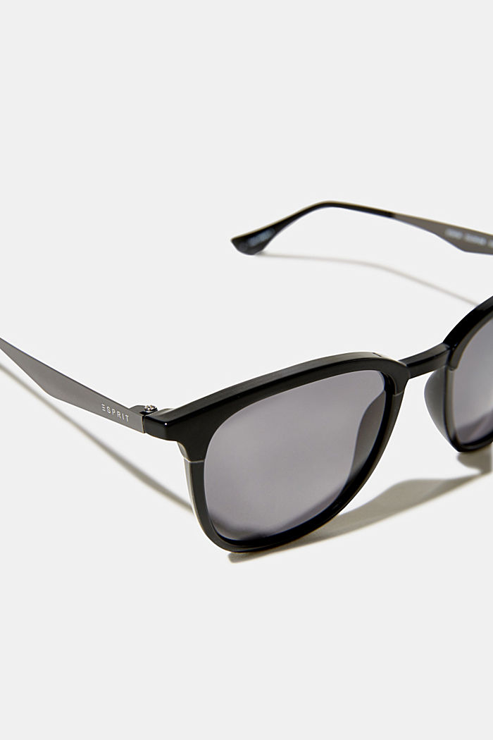 Zonnebril met mat-glans-effect, BLACK, detail image number 1