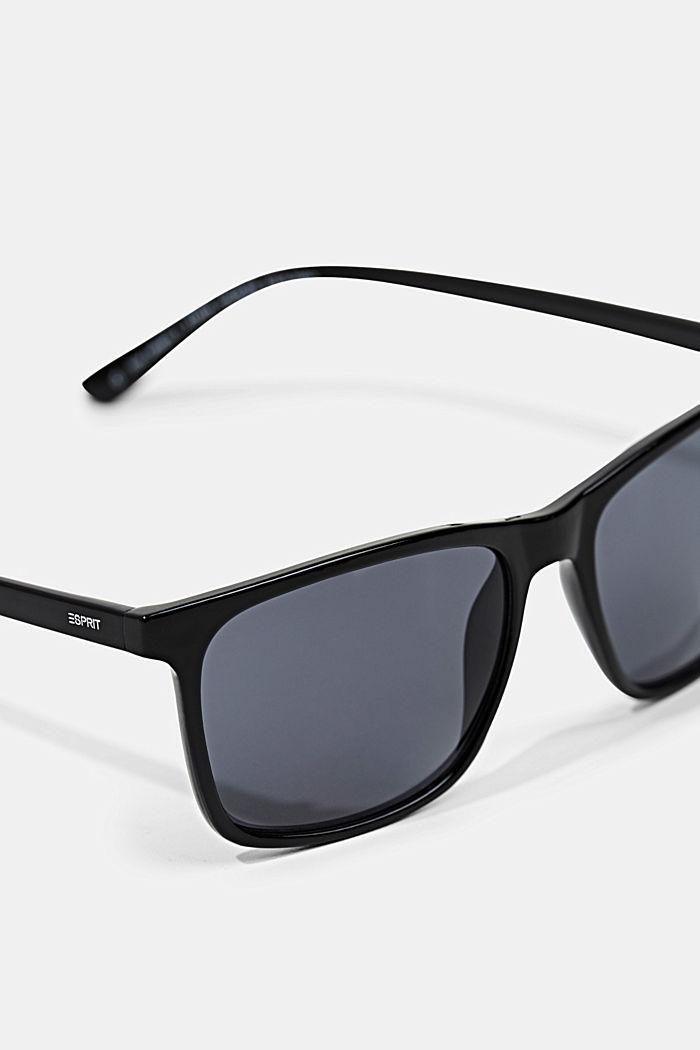 Lightweight acetate sunglasses, BLACK, detail image number 1