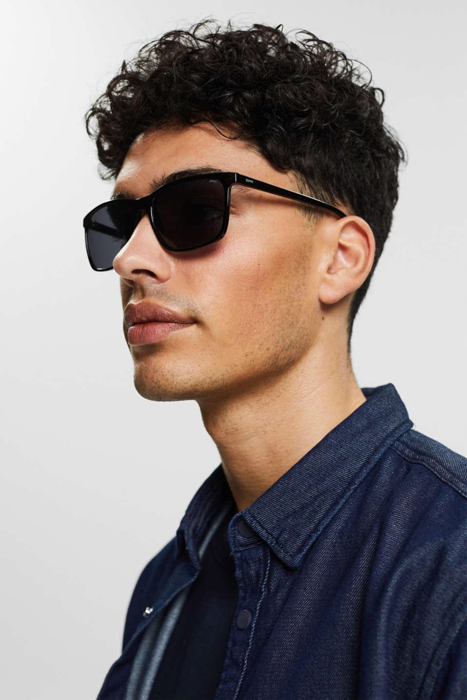 Lightweight acetate sunglasses, LCBLACK, detail image number 2