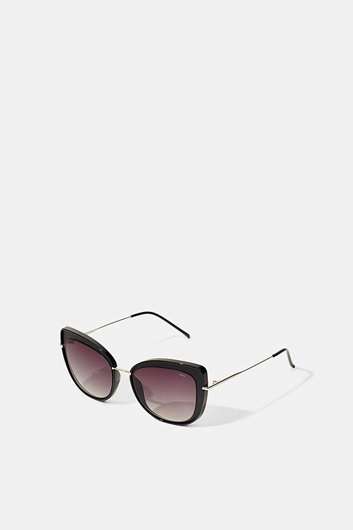 Cat eye zonnebril met metalen montuur