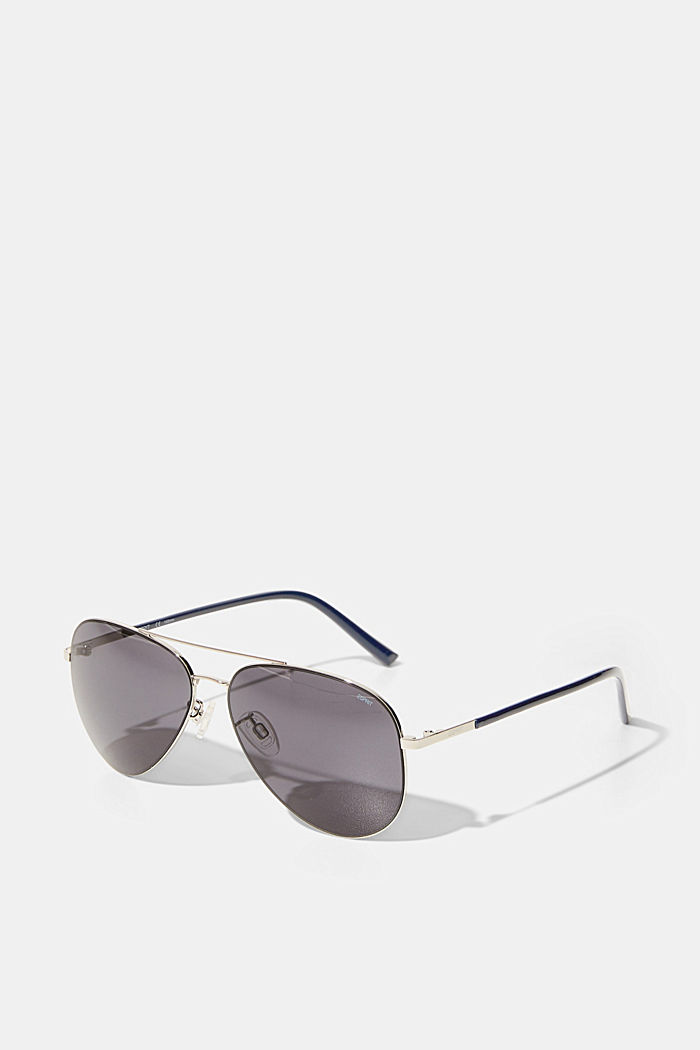 Aviator-style sunglasses, GREY, overview