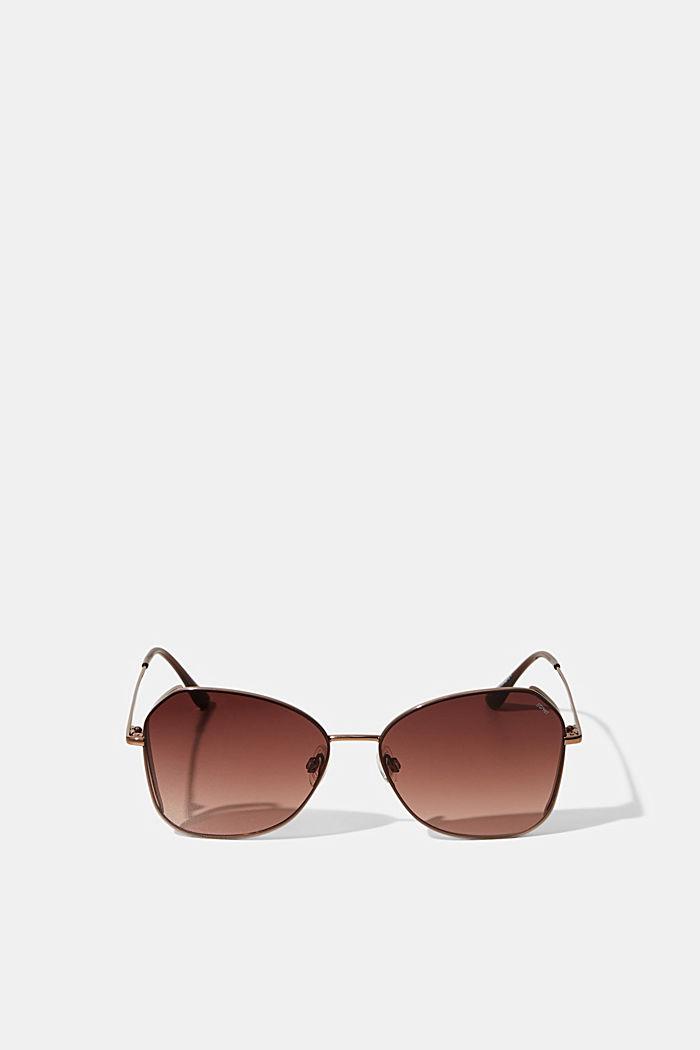 Sonnenbrille mit Metallgestell, BROWN, detail image number 0