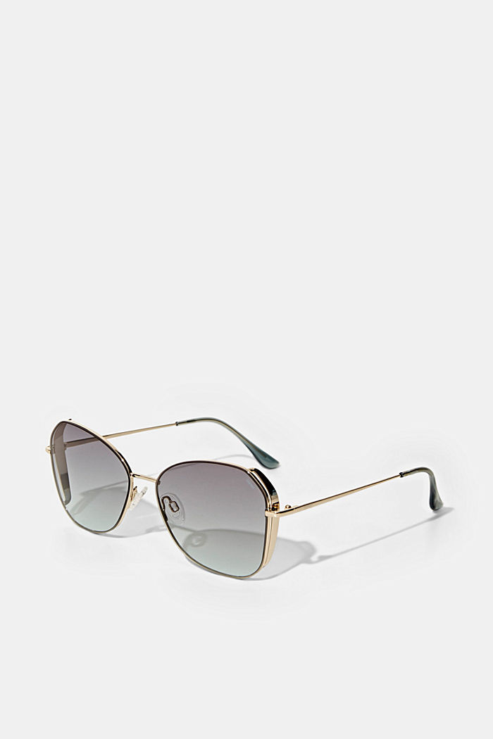 Sunglasses with metal frames, GOLD, detail image number 1