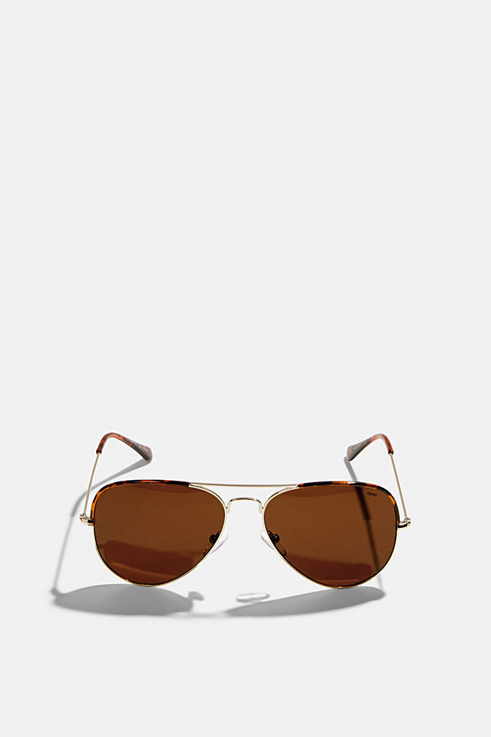 Unisex-Sonnenbrille im Aviator-Style, BROWN, detail image number 0