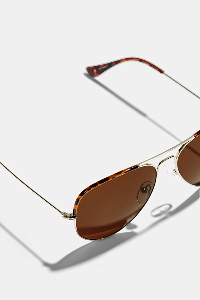 Unisex-Sonnenbrille im Aviator-Style, BROWN, detail image number 1