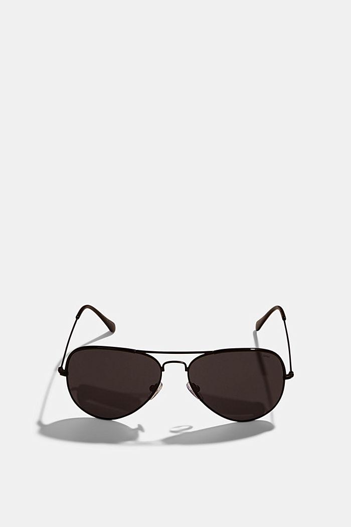 Unisex-Sonnenbrille im Aviator-Style, BLACK, detail image number 0
