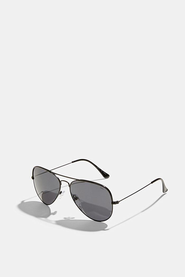 Unisex-Sonnenbrille im Aviator-Style, BLACK, detail image number 1