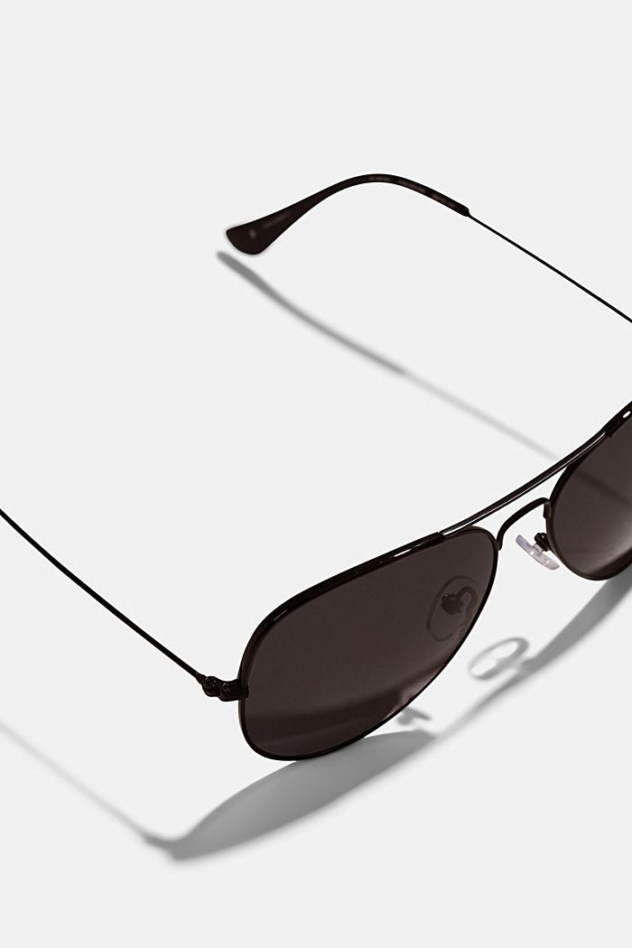 Unisex-Sonnenbrille im Aviator-Style, BLACK, detail image number 2