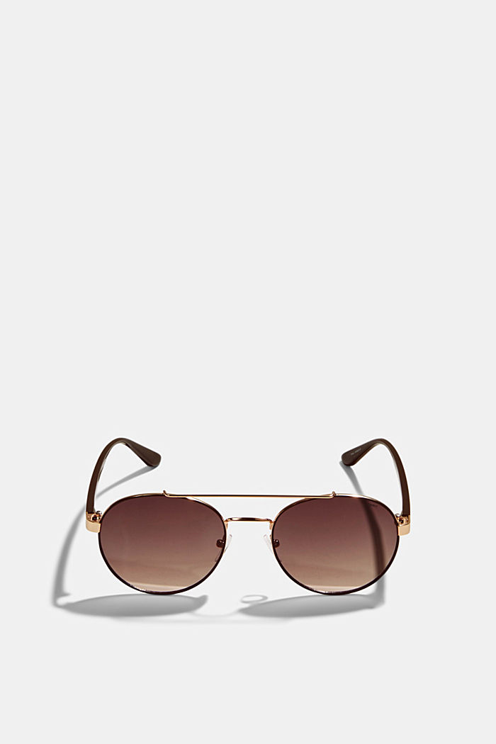 Round graduated-colour sunglasses, BROWN, detail image number 0