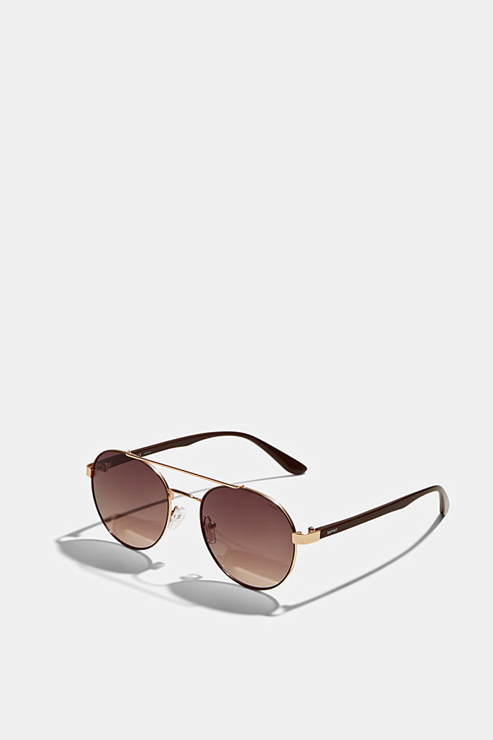 Round graduated-colour sunglasses, BROWN, detail image number 3