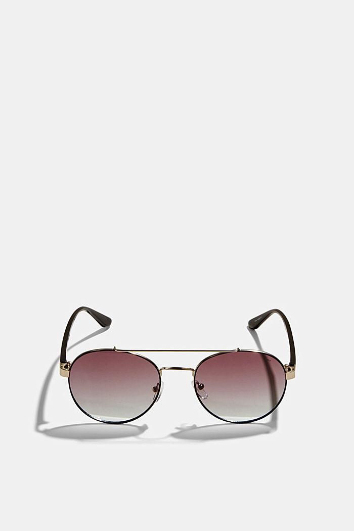 Gafas redondas con degradación de color, BLACK, detail image number 0