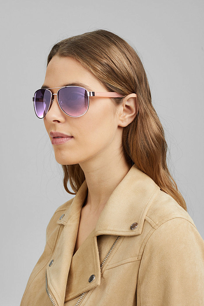 Unisex-Sonnenbrille im Aviator-Style, ROSE, detail image number 2