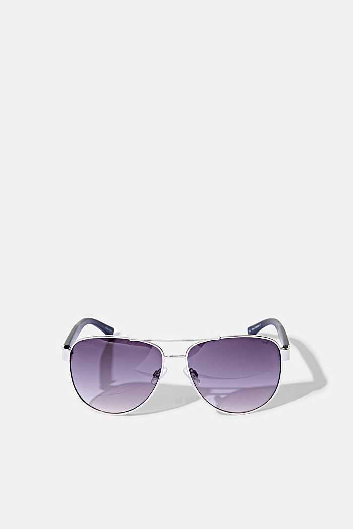 Aviator-style unisex sunglasses, SILVER, detail image number 0