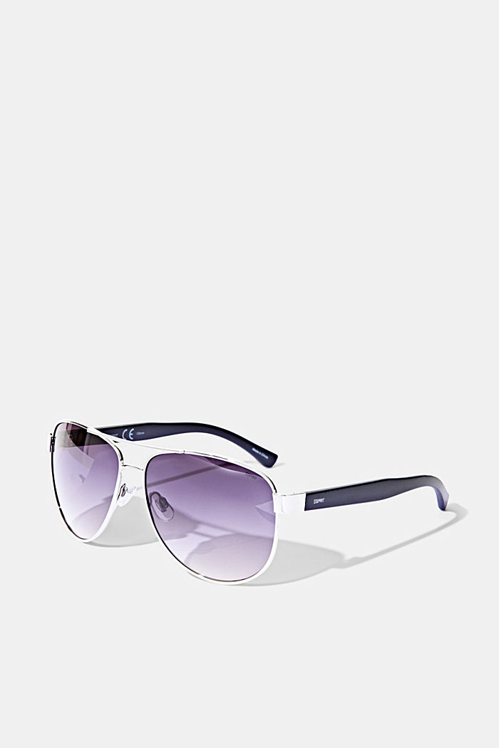 Aviator-style unisex sunglasses, SILVER, detail image number 3