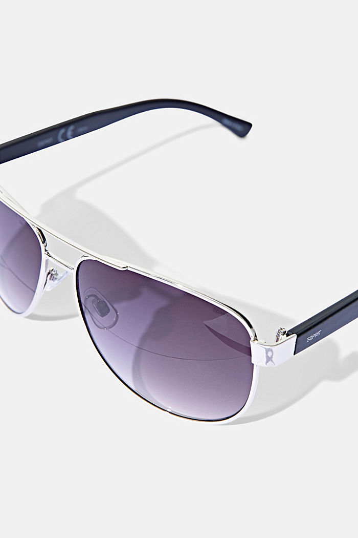 Aviator-style unisex sunglasses, SILVER, detail image number 1