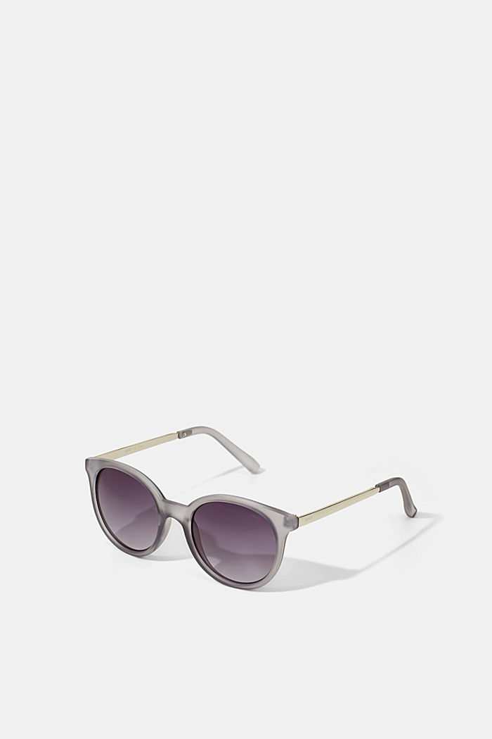 Round material-mix sunglasses