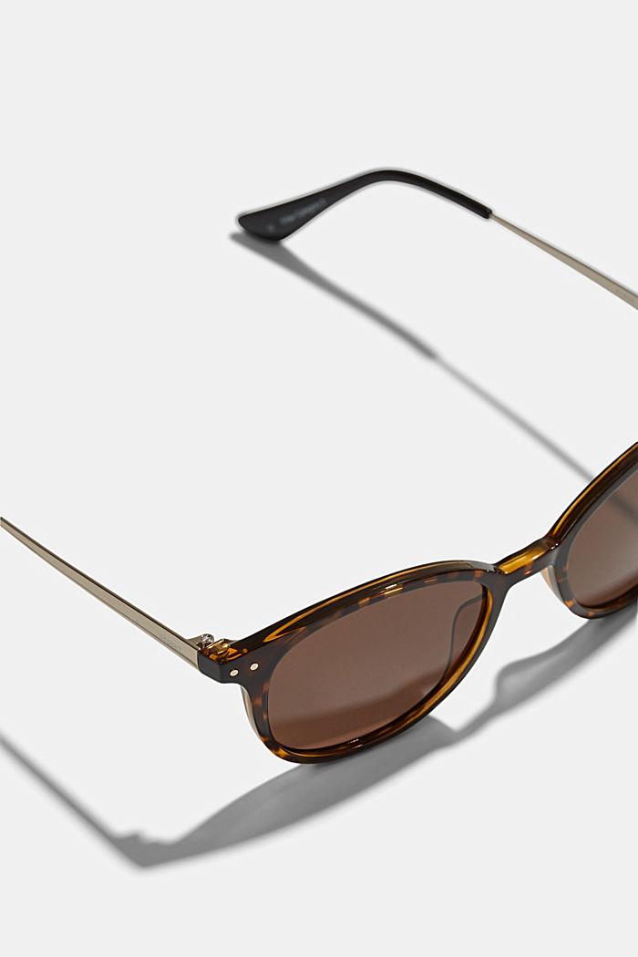 Retro-style sunglasses, HAVANNA, detail image number 1