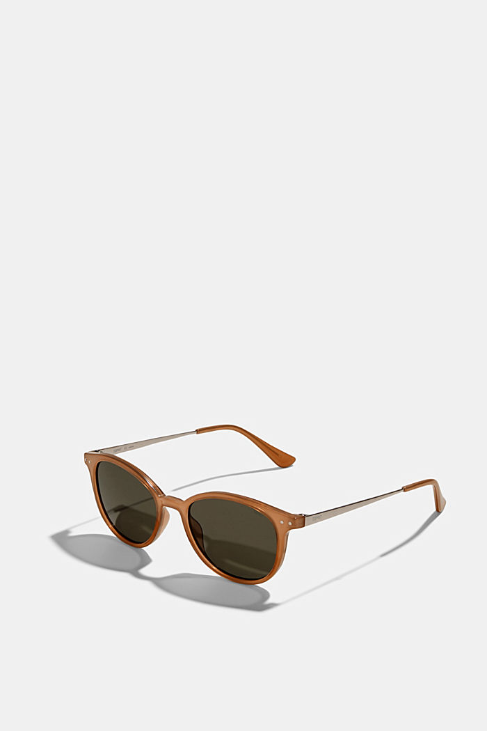 Round sunglasses with metal temples