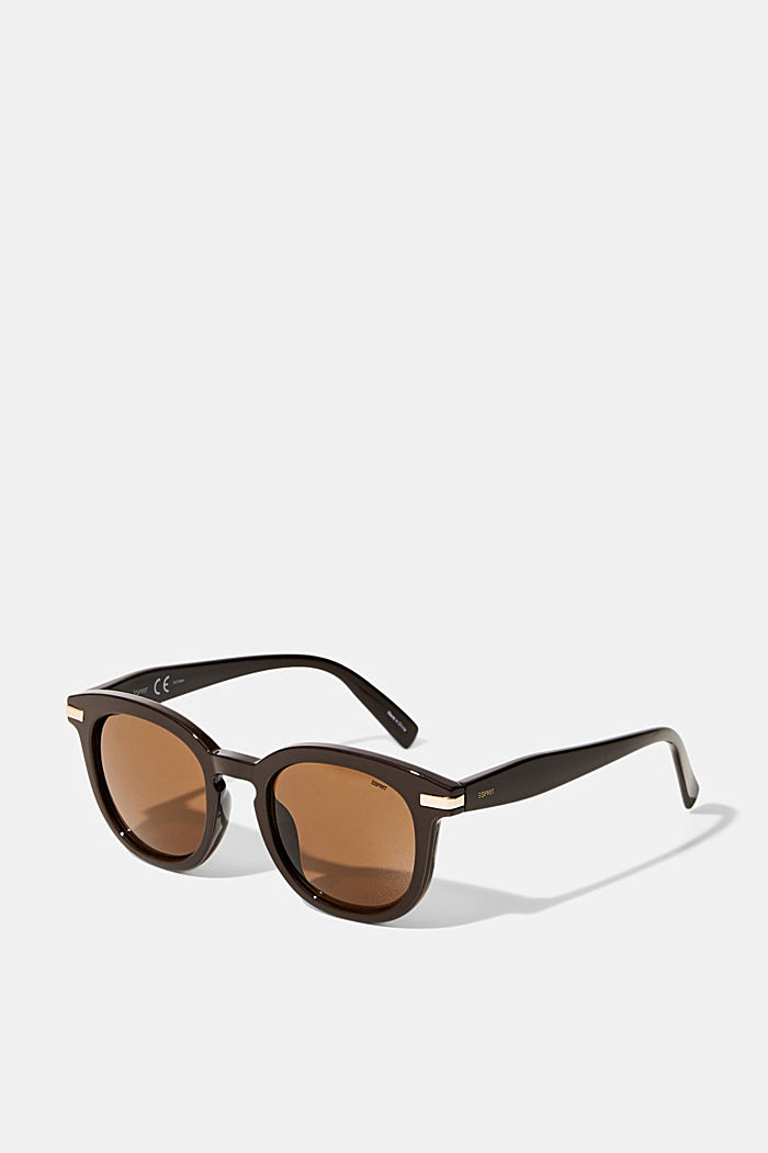 Round sunglasses with wide frames