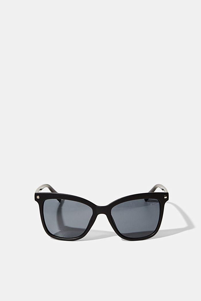 Eckige Sonnenbrille mit Kunststoffrahmen, BLACK, detail image number 0
