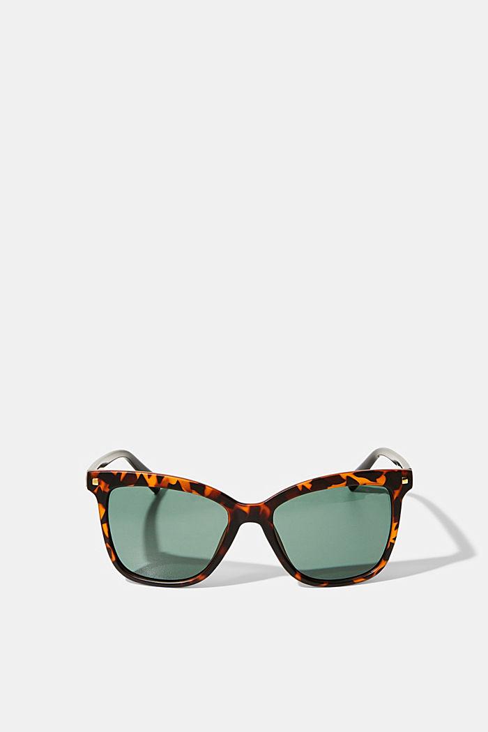 Eckige Sonnenbrille mit Kunststoffrahmen, HAVANNA, detail image number 0