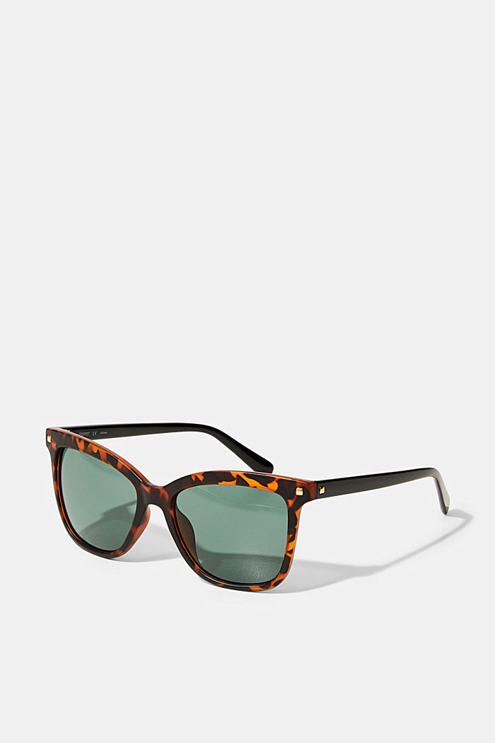 Square sunglasses with plastic frames, HAVANNA, overview