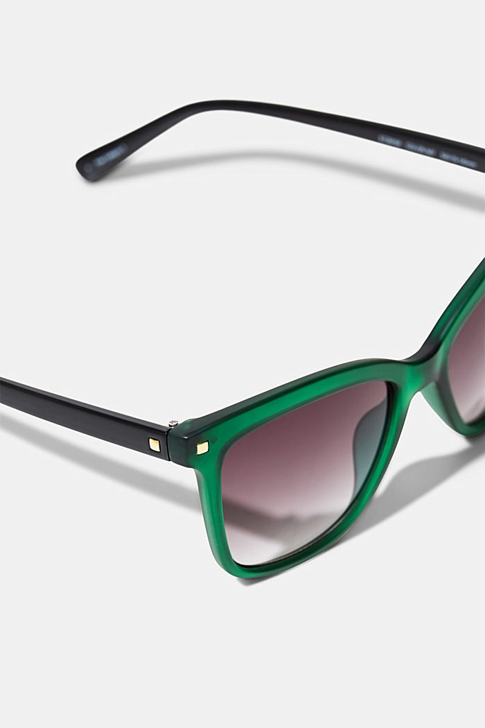 Square sunglasses with plastic frames, GREEN, detail image number 1