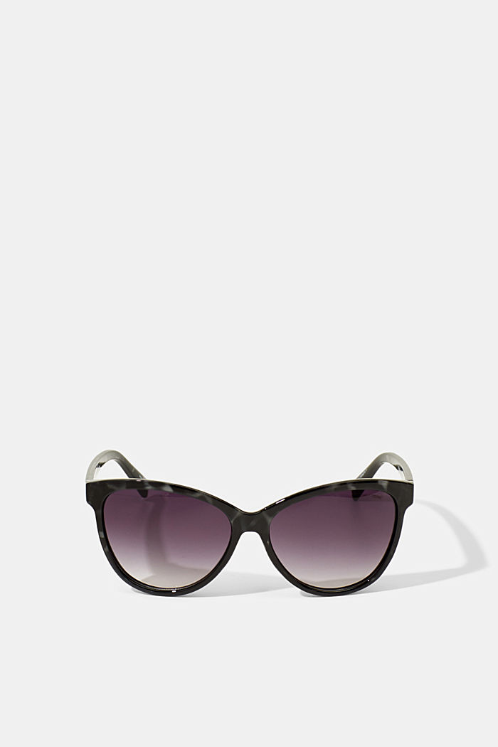 Cat-eye sunglasses in a tortoiseshell look, GREY, detail image number 3