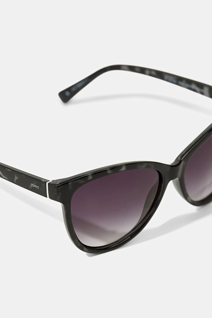 Cat-eye sunglasses in a tortoiseshell look, GREY, detail image number 1