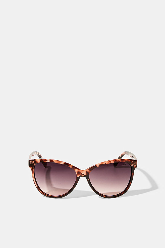 Cat-Eye Sonnenbrille in Tortoise-Optik, ROSE, detail image number 0