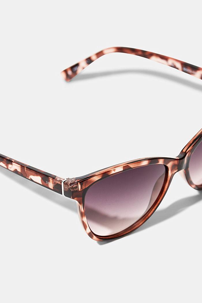Cat-Eye Sonnenbrille in Tortoise-Optik, ROSE, detail image number 1