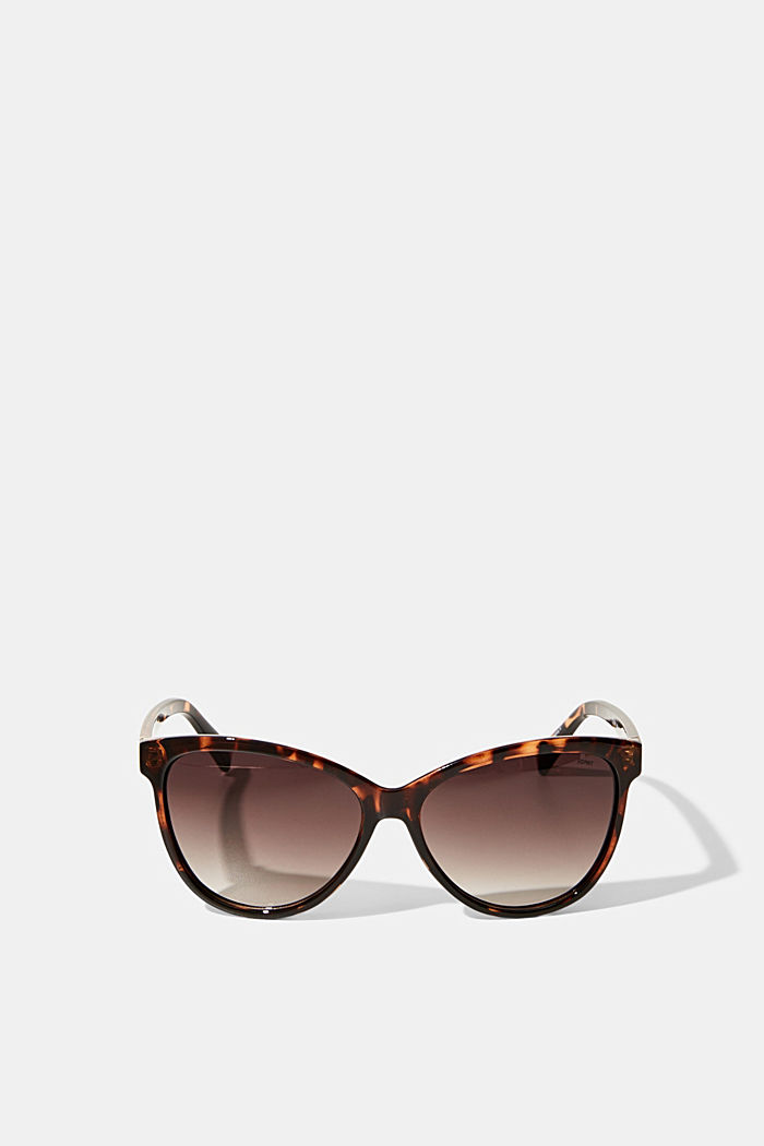 Cat-eye sunglasses in a tortoiseshell look, HAVANNA, detail image number 0