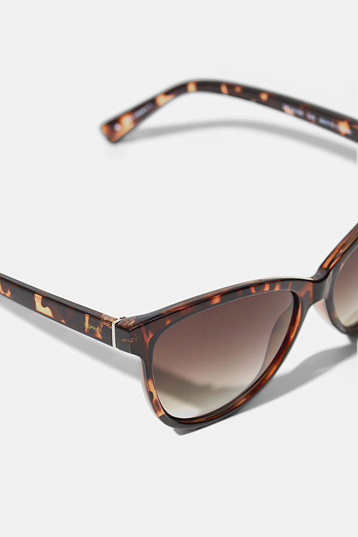 Cat-eye sunglasses in a tortoiseshell look, HAVANNA, detail image number 1