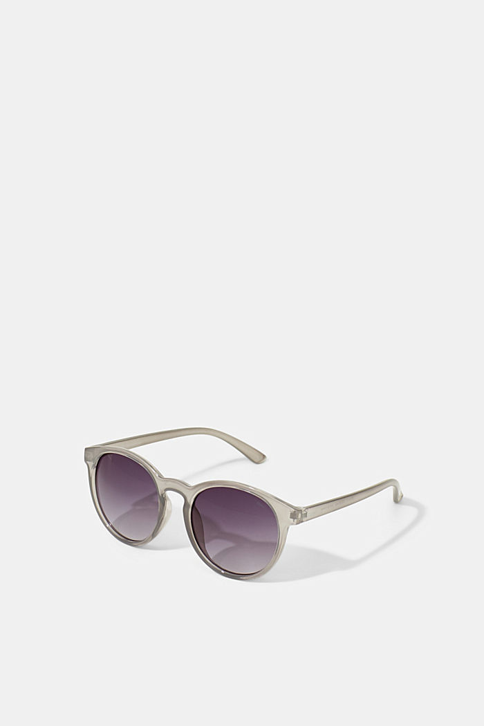 Mirrored sunglasses in a retro style, GREY, detail image number 0