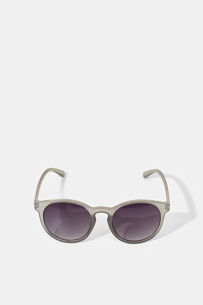 Mirrored sunglasses in a retro style, GREY, detail image number 3