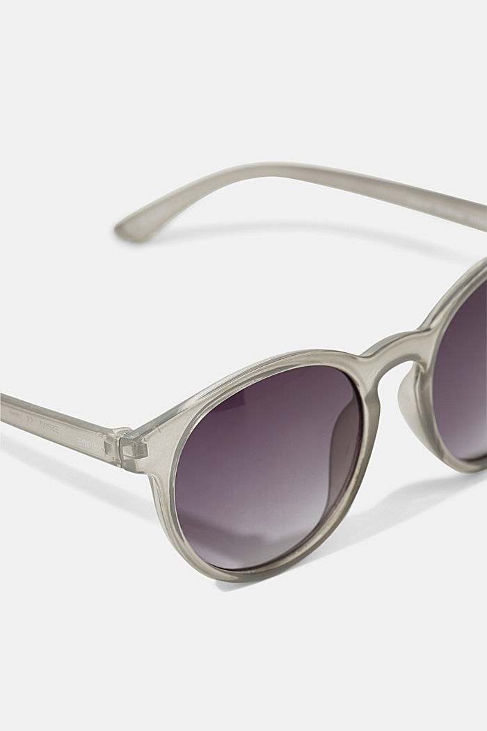 Mirrored sunglasses in a retro style, GREY, detail image number 1