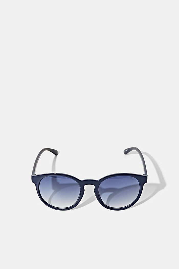 Round sunglasses in a retro style, NAVY BLUE, detail image number 4
