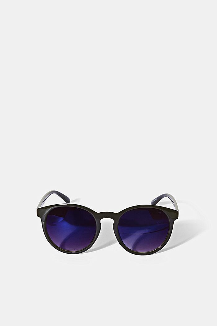 Ronde zonnebril in retrostijl, BLACK, detail image number 0