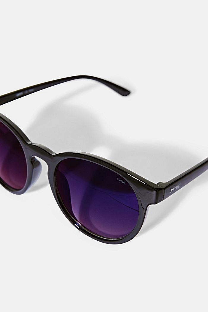 Ronde zonnebril in retrostijl, BLACK, detail image number 1