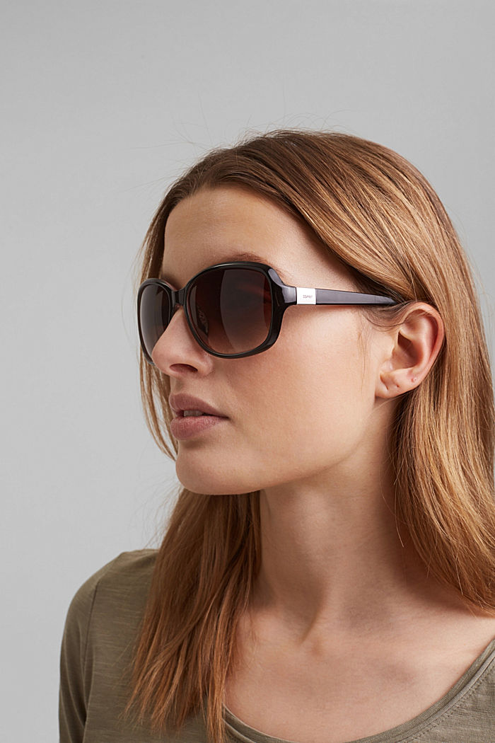 Sunglasses with a timeless design, BROWN, detail image number 2
