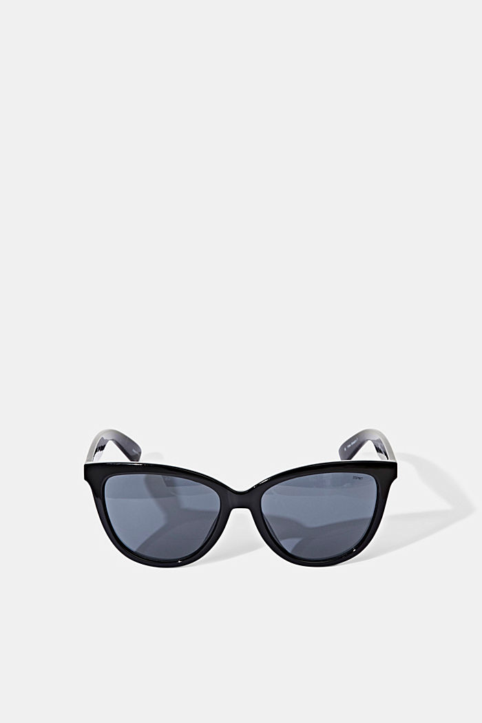 Harmonious sunglasses in a cat-eye design, BLACK, detail image number 0