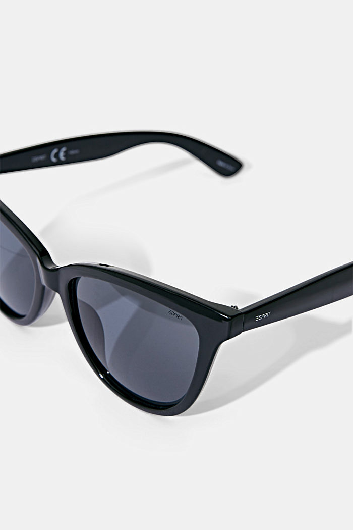 Harmonious sunglasses in a cat-eye design, BLACK, detail image number 2