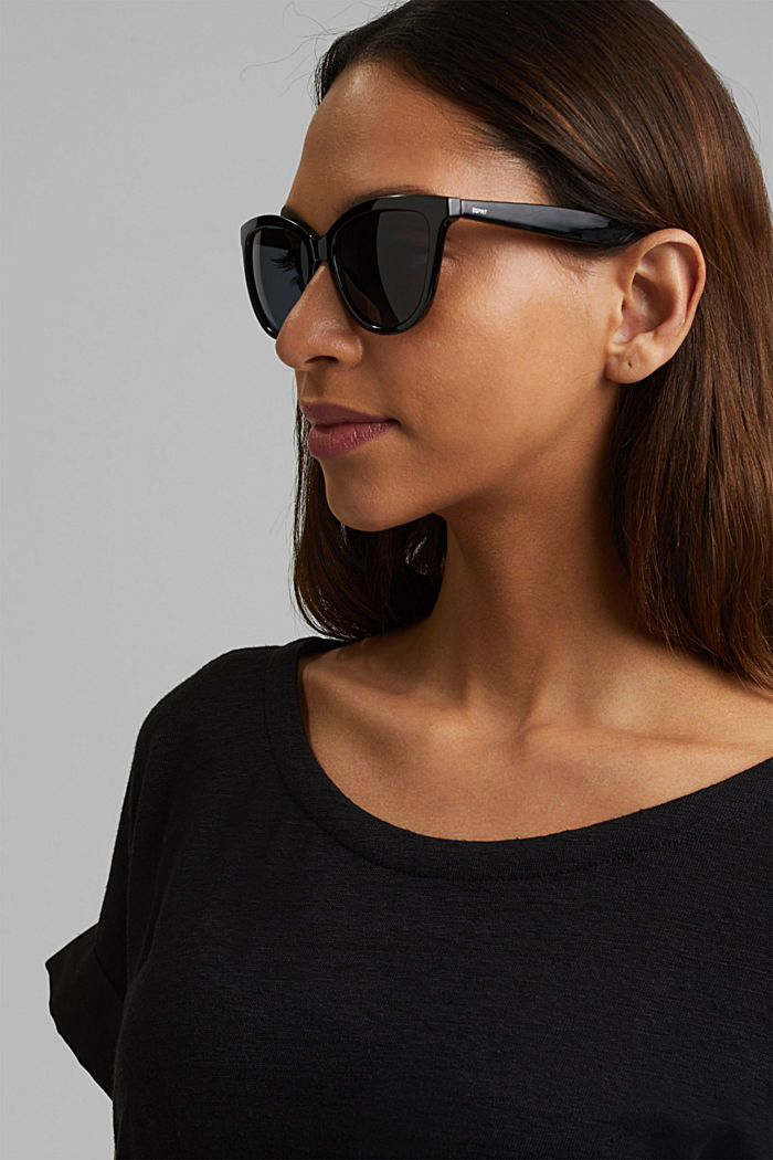 Harmonious sunglasses in a cat-eye design, BLACK, detail image number 3