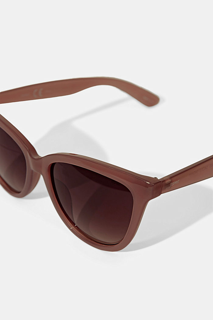 Harmonious sunglasses in a cat-eye design, BEIGE, detail image number 1