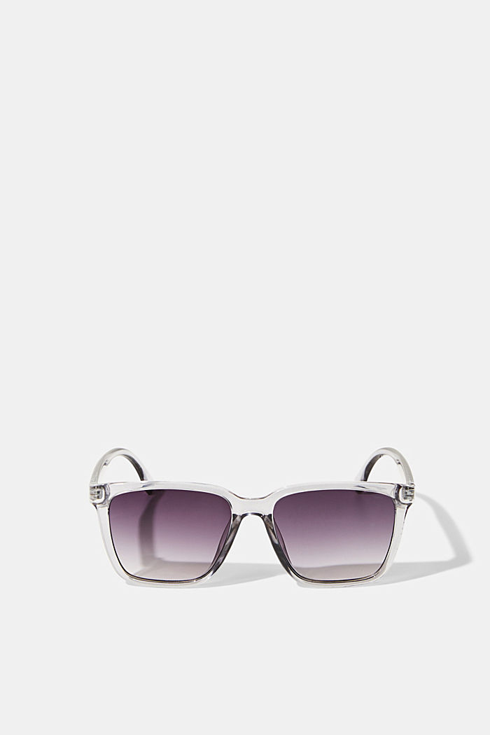 Sonnenbrille mit transparentem Rahmen, GREY, detail image number 0