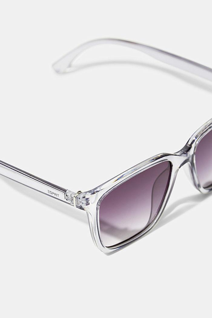 Sonnenbrille mit transparentem Rahmen, GREY, detail image number 1