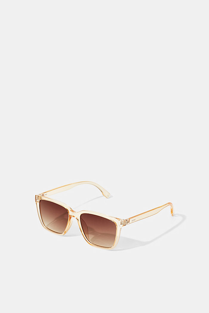 Sonnenbrille mit transparentem Rahmen, BROWN, detail image number 0