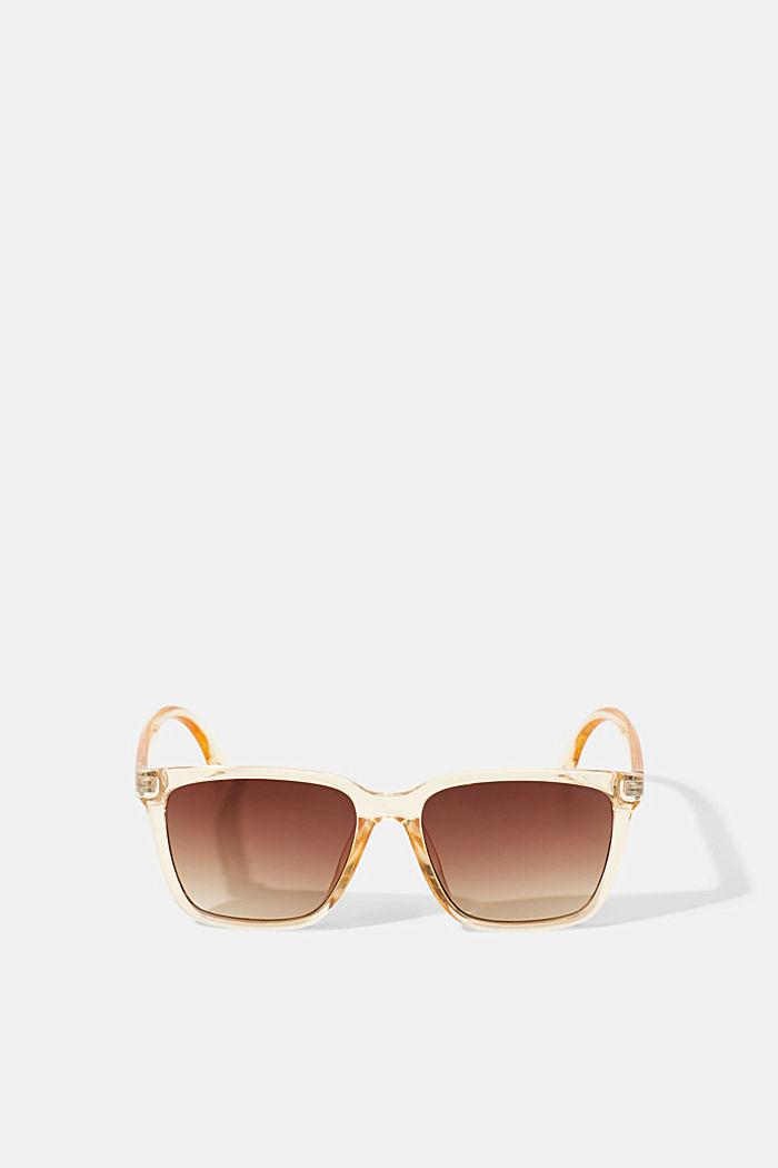 Sonnenbrille mit transparentem Rahmen, BROWN, detail image number 4